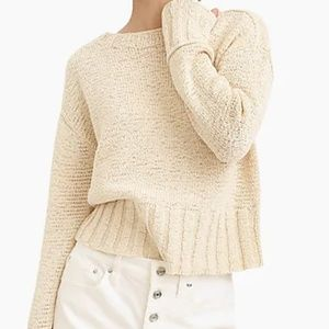 J.Crew Wide-rib crewneck sweater size S New